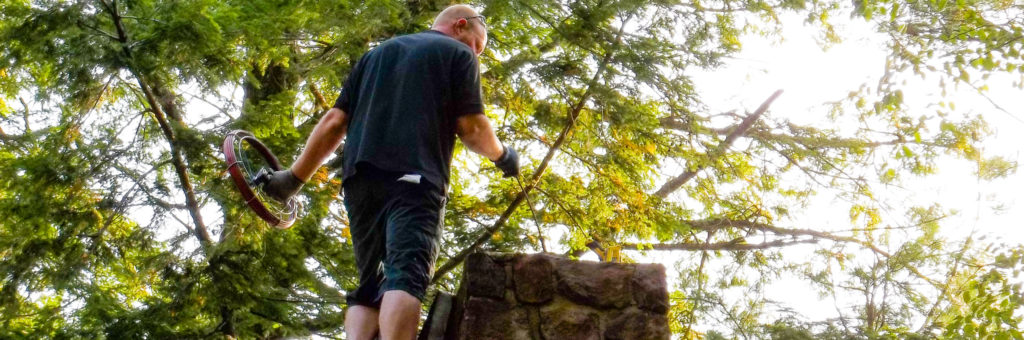 Don Cleans A Chimney In The Adirondacks